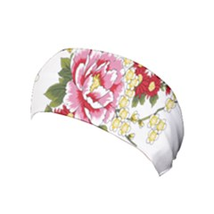 Butterfly Flowers Rose Yoga Headband