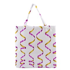 Tape Birthday Ribbon Party Yellow Purple Grocery Tote Bag by Jojostore