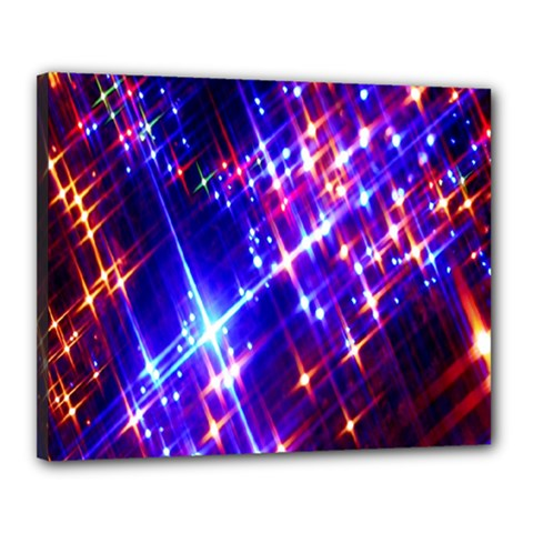 Star Light Space Planet Rainbow Sky Blue Red Purple Canvas 20  X 16  by Jojostore