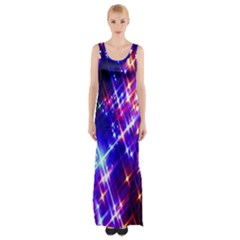 Star Light Space Planet Rainbow Sky Blue Red Purple Maxi Thigh Split Dress