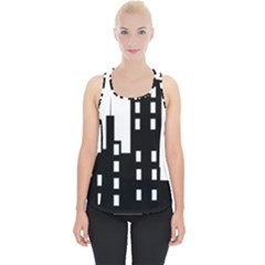 Tower City Town Building Black Piece Up Tank Top