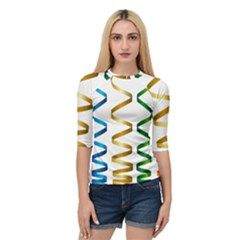 Tape Birthday Ribbon Party Yellow Red Blue Green Gold Rainbow Quarter Sleeve Raglan Tee by Jojostore