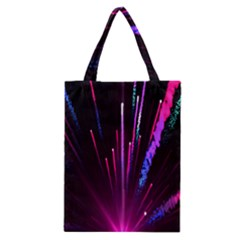 Happy New Year City Semmes Fireworks Rainbow Red Blue Purple Sky Classic Tote Bag by Jojostore