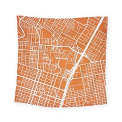 Texsas New York Map Art City Line Street Square Tapestry (small)