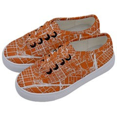 Texsas New York Map Art City Line Street Kids  Classic Low Top Sneakers by Jojostore