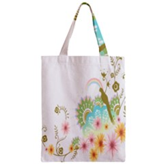 Wreaths Sexy Flower Star Leaf Rose Sunflower Bird Summer Zipper Classic Tote Bag by Mariart