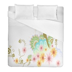 Wreaths Sexy Flower Star Leaf Rose Sunflower Bird Summer Duvet Cover (full/ Double Size) by Mariart