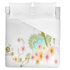 Wreaths Sexy Flower Star Leaf Rose Sunflower Bird Summer Duvet Cover Double Side (queen Size) by Mariart
