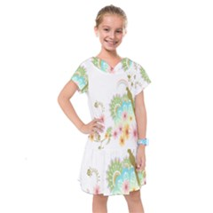 Wreaths Sexy Flower Star Leaf Rose Sunflower Bird Summer Kids  Drop Waist Dress
