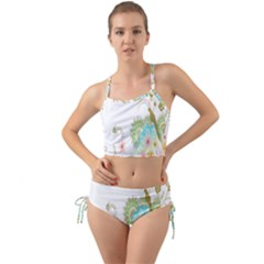 Wreaths Sexy Flower Star Leaf Rose Sunflower Bird Summer Mini Tank Bikini Set by Mariart