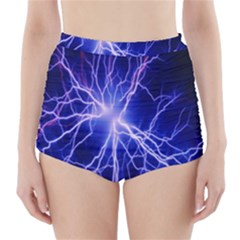 Blue Sky Light Space High-waisted Bikini Bottoms by Mariart