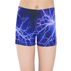 Blue Sky Light Space Kids Sports Shorts by Mariart