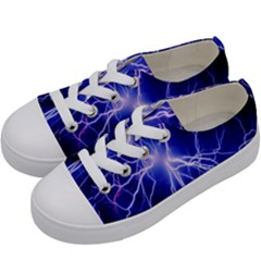 Blue Sky Light Space Kids  Low Top Canvas Sneakers by Mariart