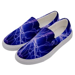 Blue Sky Light Space Men s Canvas Slip Ons by Mariart