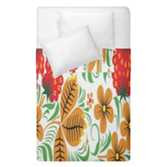Flower Floral Red Yellow Leaf Green Sexy Summer Duvet Cover Double Side (single Size)