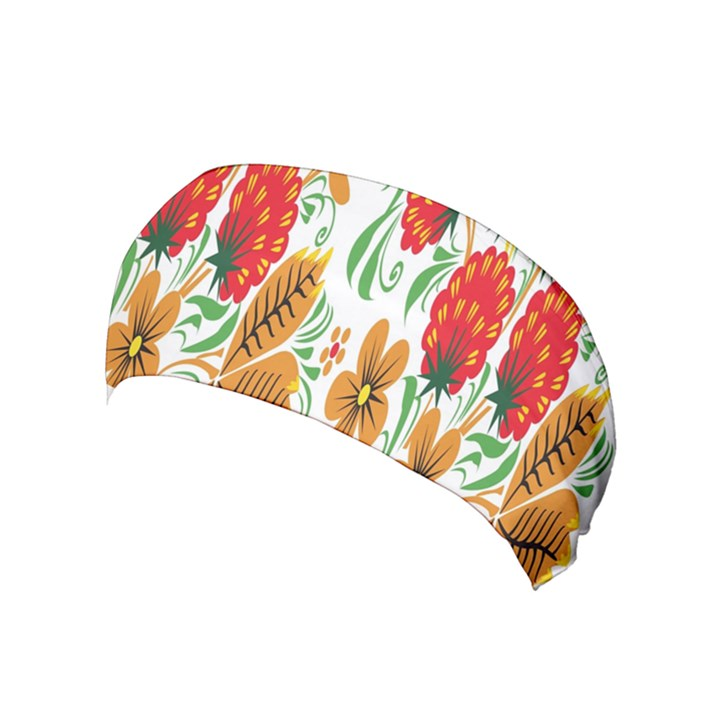 Flower Floral Red Yellow Leaf Green Sexy Summer Yoga Headband