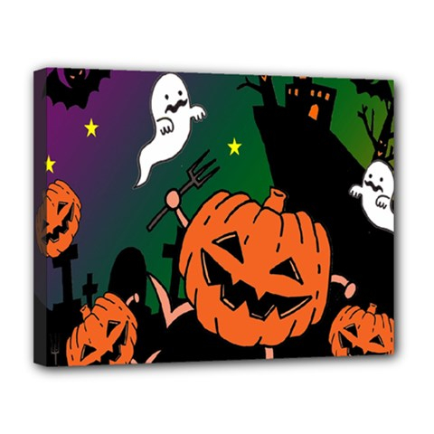 Happy Halloween Canvas 14  X 11  by Mariart