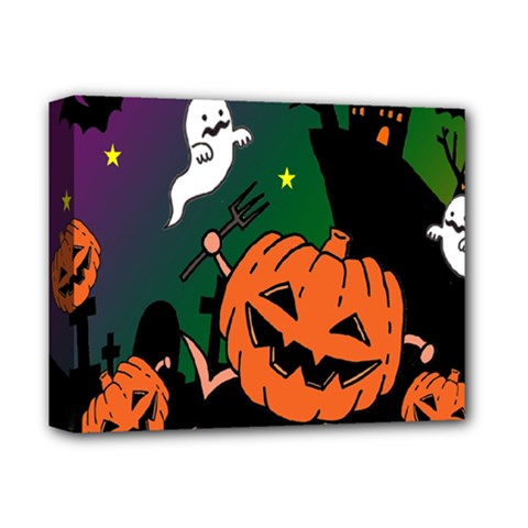 Happy Halloween Deluxe Canvas 14  X 11  by Mariart