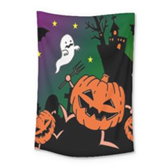 Happy Halloween Small Tapestry by Mariart