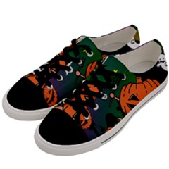 Happy Halloween Men s Low Top Canvas Sneakers by Mariart