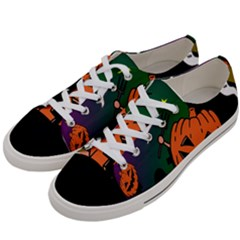 Happy Halloween Women s Low Top Canvas Sneakers by Mariart