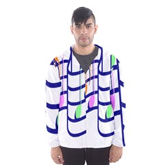 Music Note Tone Rainbow Blue Pink Greeen Sexy Hooded Wind Breaker (men) by Mariart