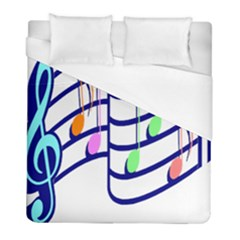 Music Note Tone Rainbow Blue Pink Greeen Sexy Duvet Cover (full/ Double Size) by Mariart