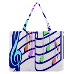 Music Note Tone Rainbow Blue Pink Greeen Sexy Zipper Medium Tote Bag by Mariart