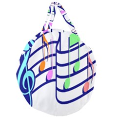 Music Note Tone Rainbow Blue Pink Greeen Sexy Giant Round Zipper Tote by Mariart