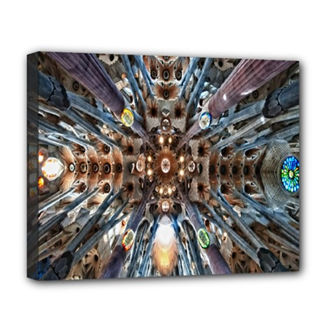 Iron Glass Space Light Deluxe Canvas 20  X 16   by Mariart