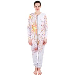 Fireworks Triangle Star Space Line Onepiece Jumpsuit (ladies)