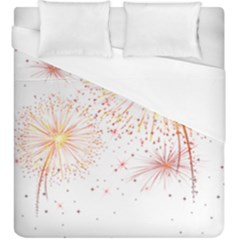 Fireworks Triangle Star Space Line Duvet Cover (king Size) by Mariart