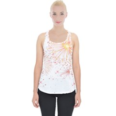Fireworks Triangle Star Space Line Piece Up Tank Top by Mariart