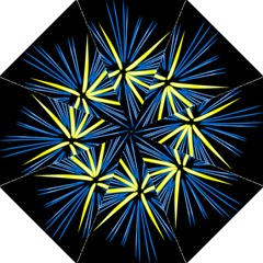 Fireworks Blue Green Black Happy New Year Straight Umbrellas by Mariart