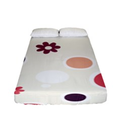 Polka Dots Flower Floral Rainbow Fitted Sheet (full/ Double Size) by Mariart