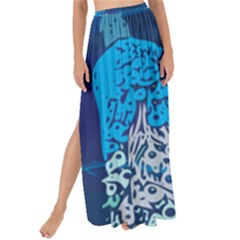 Peacock Bird Blue Animals Maxi Chiffon Tie Up Sarong