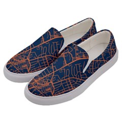Virginia Map Art City Men s Canvas Slip Ons by Mariart