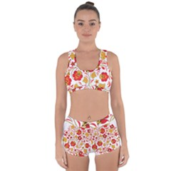Wreaths Flower Floral Sexy Red Sunflower Star Rose Racerback Boyleg Bikini Set by Mariart