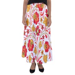 Wreaths Flower Floral Sexy Red Sunflower Star Rose Flared Maxi Skirt by Mariart