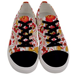 Wreaths Flower Floral Sexy Red Sunflower Star Rose Men s Low Top Canvas Sneakers