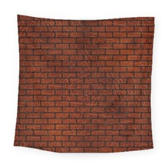 Brick1 Black Marble & Reddish Brown Leather Square Tapestry (large) by trendistuff