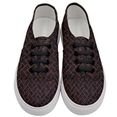 Brick2 Black Marble & Reddish Brown Leather (r) Women s Classic Low Top Sneakers