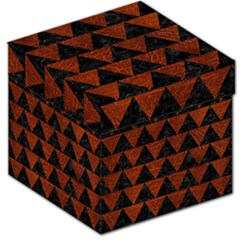 Triangle2 Black Marble & Reddish Brown Leather Storage Stool 12   by trendistuff