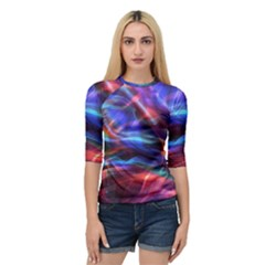 Abstract Shiny Night Lights 2 Quarter Sleeve Raglan Tee by tarastyle