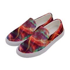 Abstract Shiny Night Lights 4 Women s Canvas Slip Ons by tarastyle