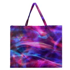 Abstract Shiny Night Lights 5 Zipper Large Tote Bag by tarastyle