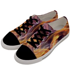 Abstract Shiny Night Lights 6 Men s Low Top Canvas Sneakers by tarastyle