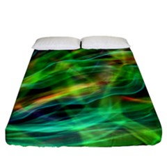 Abstract Shiny Night Lights 8 Fitted Sheet (california King Size) by tarastyle