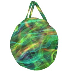 Abstract Shiny Night Lights 8 Giant Round Zipper Tote by tarastyle