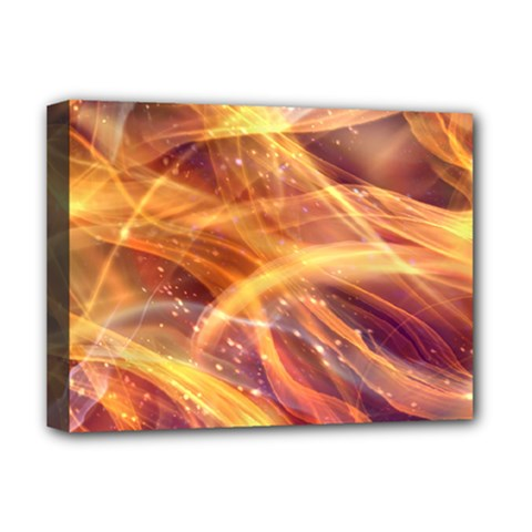 Abstract Shiny Night Lights 10 Deluxe Canvas 16  X 12   by tarastyle